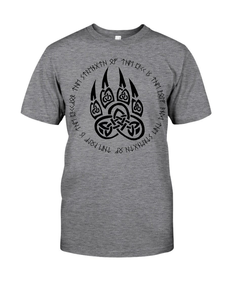 Viking T-shirts : Celtic wolf paw with runic Classic T-Shirt