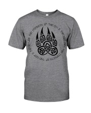 Viking T-shirts : Celtic wolf paw with runic Classic T-Shirt front