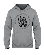 Viking T-shirts : Celtic wolf paw with runic Hooded Sweatshirt thumbnail