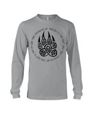 Viking T-shirts : Celtic wolf paw with runic Long Sleeve Tee thumbnail