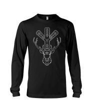 Deer And  ALGIZ is a powerful rune - Viking Shirt Long Sleeve Tee thumbnail