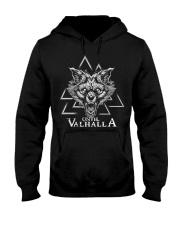 Until Valhalla Wolf - Viking shirt Hooded Sweatshirt thumbnail