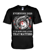 Everyone Dies - Viking Shirt V-Neck T-Shirt thumbnail