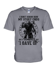 Viking T-shirts : IT WILL NEVER SAY ''I GAVE UP'' V-Neck T-Shirt thumbnail
