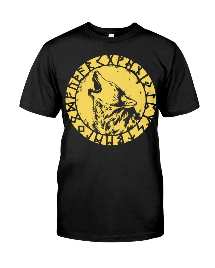 Viking Fenrir Wolf Rune - Viking Shirt Classic T-Shirt