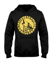 Viking Fenrir Wolf Rune - Viking Shirt Hooded Sweatshirt thumbnail
