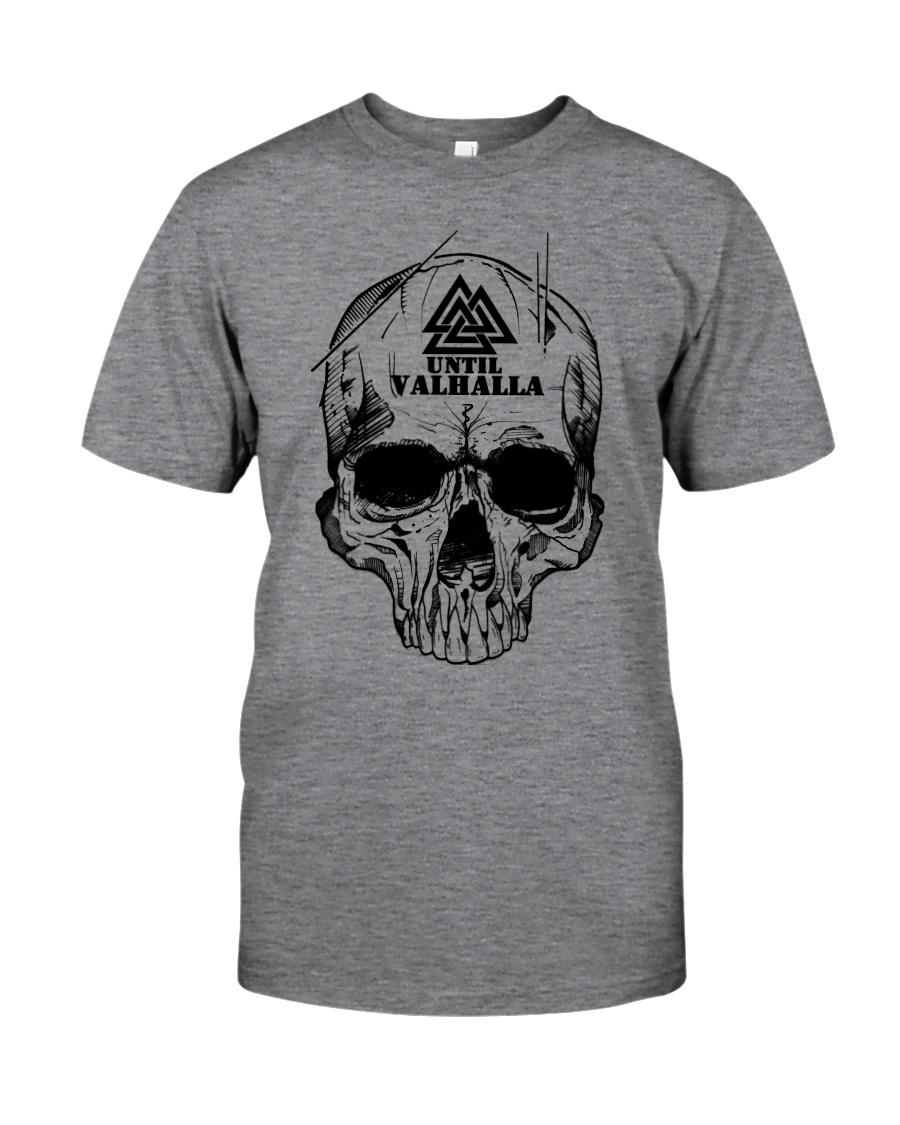 Viking T-shirt - Until Valhall - Skull Valknut Classic T-Shirt