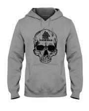 Viking T-shirt - Until Valhall - Skull Valknut Hooded Sweatshirt thumbnail