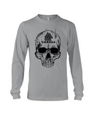 Viking T-shirt - Until Valhall - Skull Valknut Long Sleeve Tee thumbnail