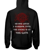 The Enemy Is At The Gate - Viking Shirt Hooded Sweatshirt back