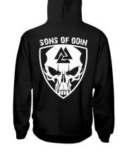 Viking Shirt - Sons Of Odin - Skull Valknut Hooded Sweatshirt back
