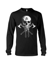 VIKING SKULL BEARD - VIKING T-SHIRTS Long Sleeve Tee thumbnail
