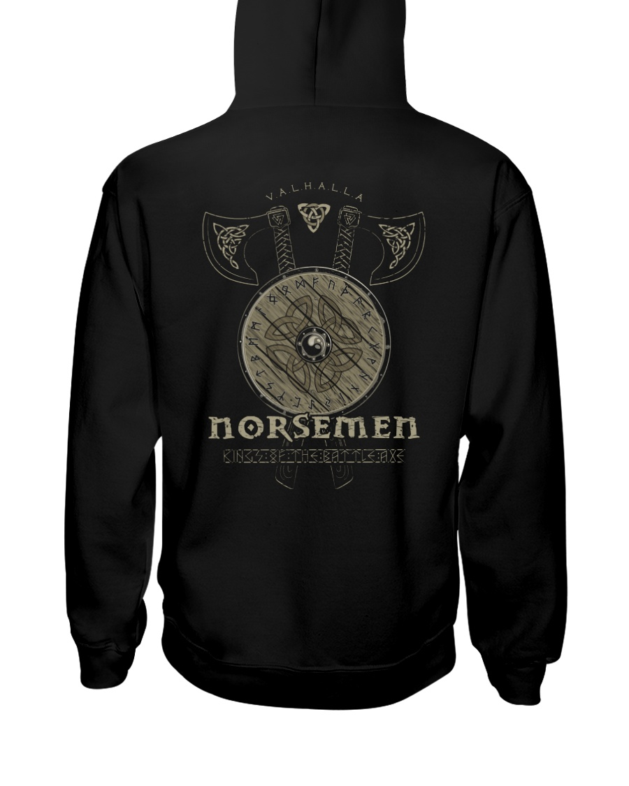 Viking Shirt : Norsemen kings of the battle axe Hooded Sweatshirt