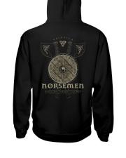 Viking Shirt : Norsemen kings of the battle axe Hooded Sweatshirt back