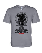 Too Far To Give Up - Keep Fighting - Viking Shirts V-Neck T-Shirt thumbnail