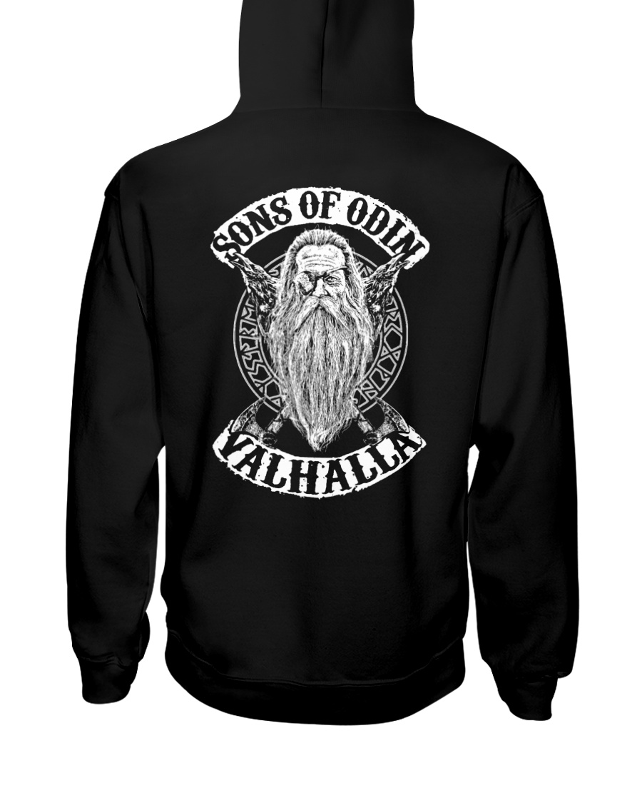 Son Of Odin - Valhalla - Viking Shirt Hooded Sweatshirt
