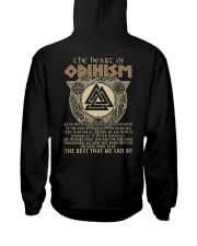 The Heart Of Odinism - Viking Shirt Hooded Sweatshirt back