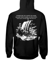 WHEREVER YOU KNOW OF HARM - VIKING T-SHIRTS Hooded Sweatshirt back