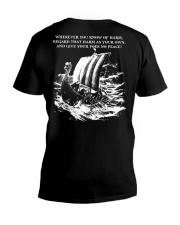WHEREVER YOU KNOW OF HARM - VIKING T-SHIRTS V-Neck T-Shirt thumbnail