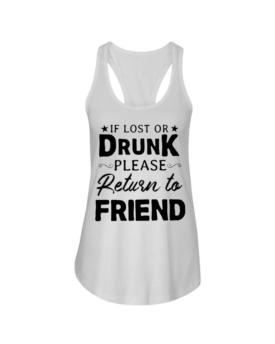 If Lost Or Drunk Ladies Flowy Tank