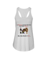 A Woman Cannot Survive On Wine Alone She Also Need Ladies Flowy Tank thumbnail