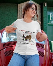 A Woman Cannot Survive On Wine Alone She Also Need Ladies T-Shirt apparel-ladies-t-shirt-lifestyle-01