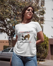 A Woman Cannot Survive On Wine Alone She Also Need Ladies T-Shirt apparel-ladies-t-shirt-lifestyle-02