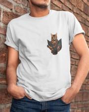 Bengal Cat Pocket Tshirt Classic T-Shirt apparel-classic-tshirt-lifestyle-26