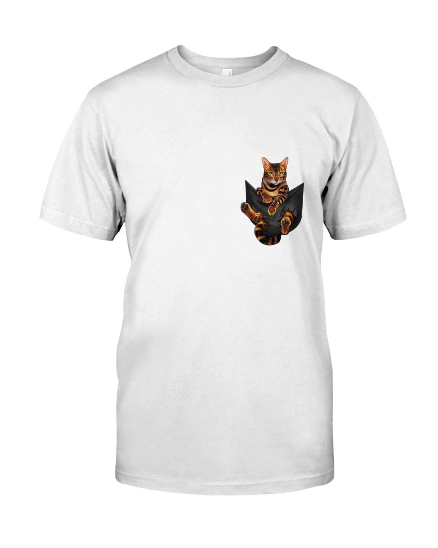 Bengal Cat Pocket Tshirt Classic T-Shirt