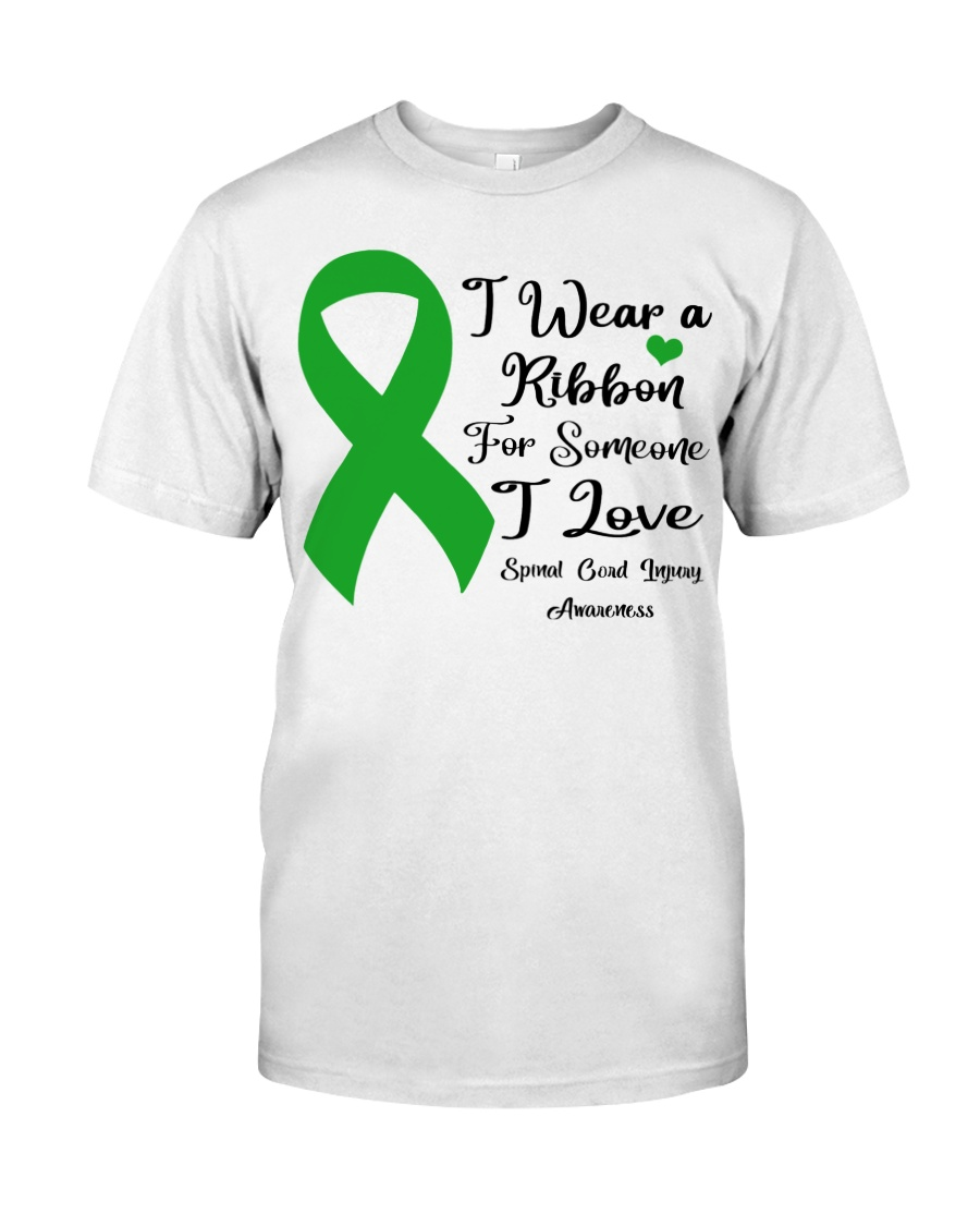 I Wear Ribbon Someone I Love Spinal Cord Injury Classic T-Shirt