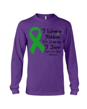 I Wear Ribbon Someone I Love Spinal Cord Injury Long Sleeve Tee tile
