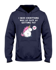 Unicorn Chubby Hooded Sweatshirt front