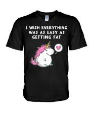 Unicorn Chubby V-Neck T-Shirt thumbnail
