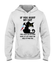 BLACK CAT IF YOU HURT MY CAT T SHIRT Hooded Sweatshirt thumbnail