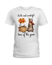 Funny Cat Halloween T-Shirt Ladies T-Shirt front