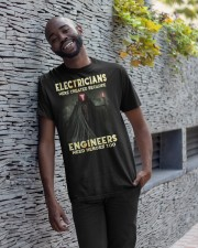 ELECTRICIANS T SHIRT  Classic T-Shirt apparel-classic-tshirt-lifestyle-front-33