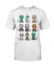 Funny Cute Cat Halloween Funny Halloween Gift  Classic T-Shirt thumbnail