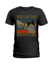 Best Cat Dad Classic T-Shirt Ladies T-Shirt front