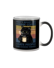 That's What I Do I Drink Coffee I Hate People Clas Color Changing Mug thumbnail
