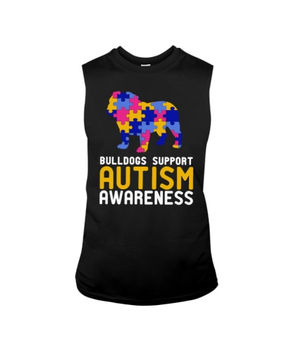 Bulldogs Support Autism Awareness Women Dog Shirt