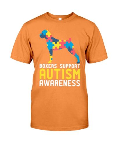 Boxers Support Autism Awareness Men Women T Shirt