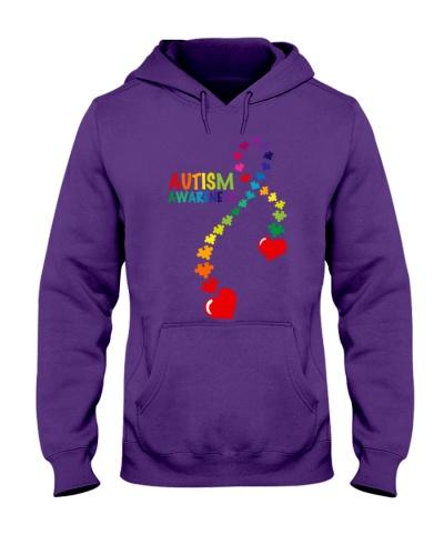 Autism Awareness Puzzle Ribbon Women T Shirt