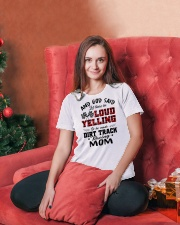 DIRT TRACK RACER MOM LOAD YELLING Ladies T-Shirt lifestyle-holiday-womenscrewneck-front-2