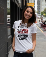 DIRT TRACK RACER MOM LOAD YELLING Ladies T-Shirt lifestyle-women-crewneck-front-5