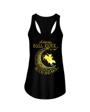 I love my Bull Rider to the moon and back Ladies Flowy Tank thumbnail