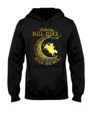 I love my Bull Rider to the moon and back Hooded Sweatshirt thumbnail