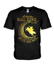 I love my Bull Rider to the moon and back V-Neck T-Shirt thumbnail