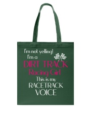 DIRT TRACK RACING GIRL - RACETRACK VOICE Tote Bag thumbnail
