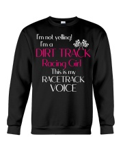 DIRT TRACK RACING GIRL - RACETRACK VOICE Crewneck Sweatshirt thumbnail