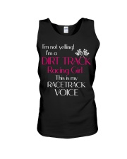 DIRT TRACK RACING GIRL - RACETRACK VOICE Unisex Tank thumbnail